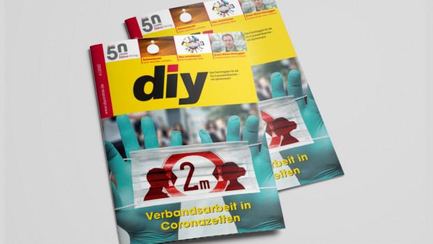 """""""Nie war sie so wertvoll wie heute"""": Die Verbandsarbeit in der DIY- und Gartenbranche ist Titelthema von diy 6/2020."""