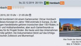 Der Fernsehsender ntv bringt Jubiläums-Doku über Hornbach