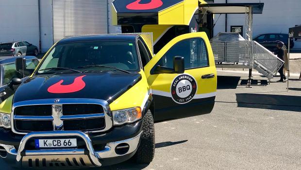 Mit einem eigenen Truck präsentiert sich Char-Broil auf seiner Deutschlandtour im Jubiläumsjahr.