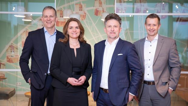 Der neue Tesa-Vorstand von links nach rechts: Dr. Jörg Diesfeld, Angela Cackovich, Dr. Norman Goldberg und Oliver Höfs. [Bild: Tesa]