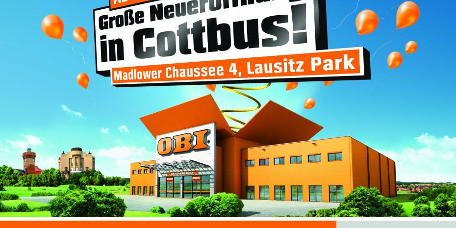 Am 2. September konnte Obi im Lausitz Park in Cottbus einen Baumarkt mit Gartencenter eröffnen. Vor dem Umbau war dort ein Toom Baumarkt.