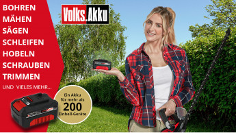 Einhell startet Marketingkampagne rund um den Volks-Akku