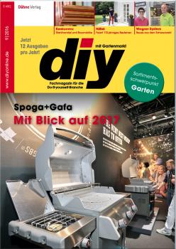 Die aktuelle Ausgabe des Fachmagazins diy hat anlässlich der Spoga+Gafa das Thema Gartenmarkt auf die Titelseite gebracht.