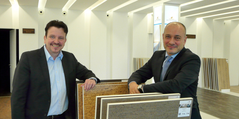 Tomas Cordes (l.), Geschäftsführer Amorim Deutschland GmbH, und Carlos de Jesus, Geschäftsführer Marketing und Kommunikation der Amorim-Gruppe