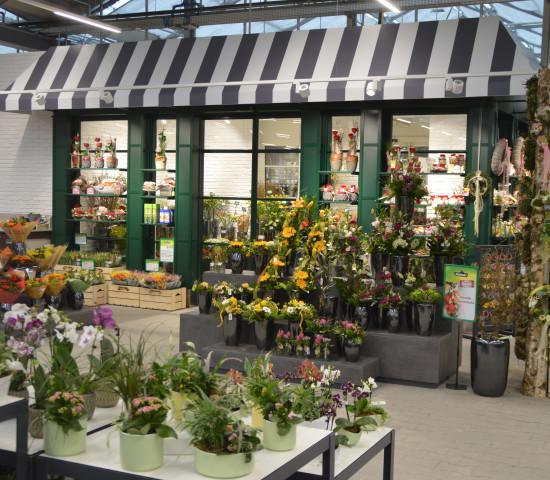In Anif wird auch Floristik geboten - im neuen Landhaus-Auftritt der Schnittblumenabteilung.