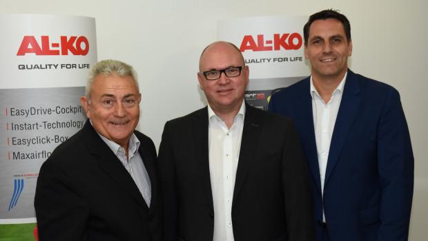Josip Frljuzec, Wolfgang Hergeth und Thomas Hoffmann (v. l.) wollen die Vertriebsstrukturen von Al-Ko in Südosteuropa stärken.