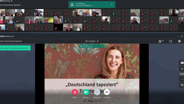 Die Teilnehmer des Tapetengipfels 2020 trafen sich auf dem Bildschirm - der Branchentreff fand digital statt.