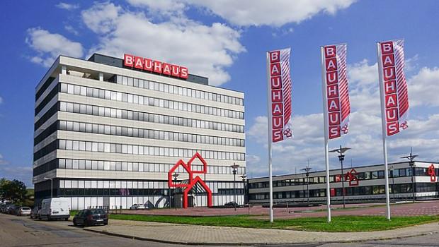 Bauhaus - im Bild die Firmenzentrale in Mannhein - testet erstmals in Dresden Tierbedarf.