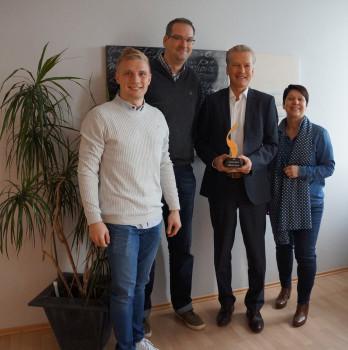 Im Bild v. l.: Luca Valerius, Stefan Friebis, Michael Schulz, Susann Herbert.