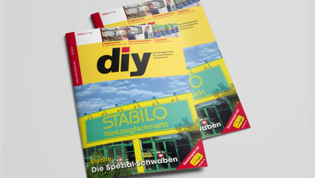 Schon sehr gelb macht die Stabilo-Titelgeschichte das aktuelle diy-Heft.