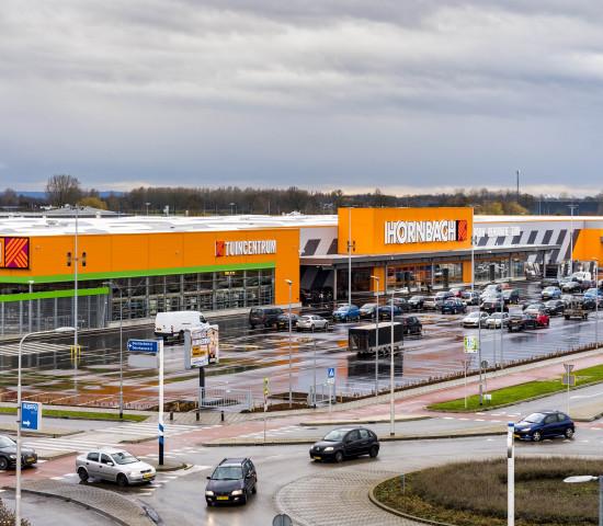 Ansicht des neuen Bau- und Gartenmarktes.