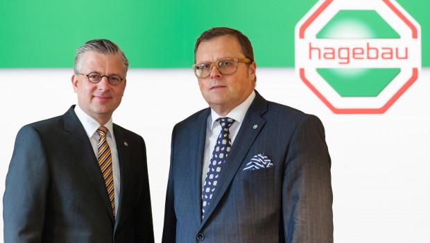 Neuer Leiter des Bereichs Holz im Hagebau-Fachhandel ist seit dem 1. April 2015 Volker Herwing (l.), Jörg Westergaard leitet seitdem den neuen Bereich Standortbetreuung und Marketing.