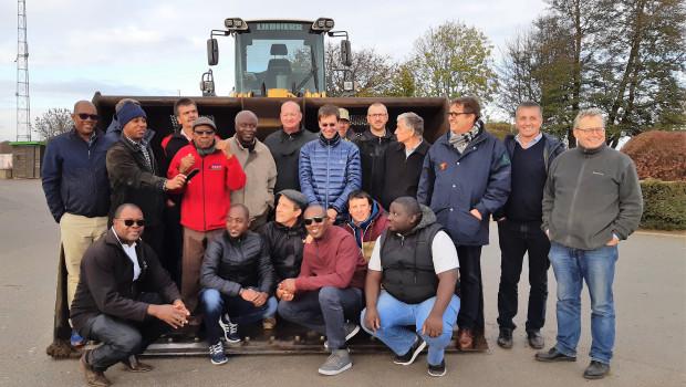 Gäste aus Namibia besichtigten die DHG-Werken in Bütgenbach und Büllingen. Sie informierten sich über biomassebasierte Inwertsetzungskonzepte.