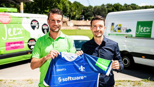 Jeez, der mobile Baumarkt, wird neuer Premiumsponsor des SV Darmstadt 98.