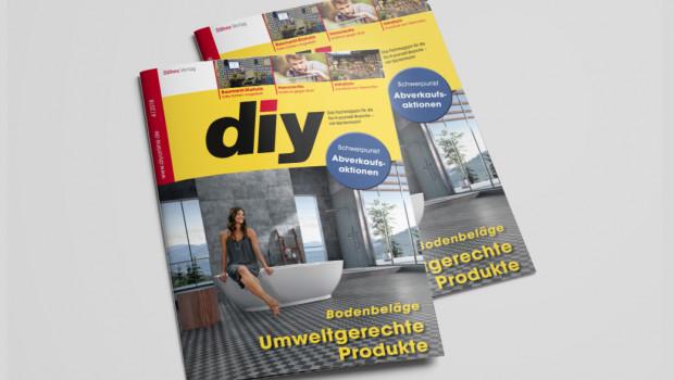 Mit einem breiten Themenangebot ist jetzt die April-Ausgabe des Fachmagazins diy erschienen.