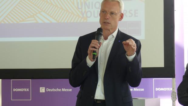 Zufrieden mit dem Anmeldestand bei der Domotex 2018: Dr. Andreas Gruchow, Mitglied des Vorstands der Deutschen Messe AG.