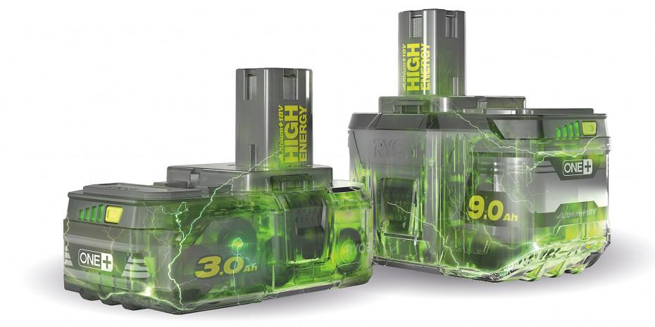 Die One+-Akkupacks sind in Leistungsstufen von 1,5 bis 9 Ah erhältlich.