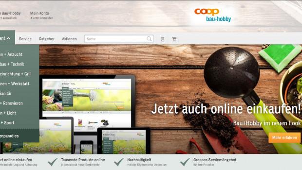Website Coop Bau+Hobby
