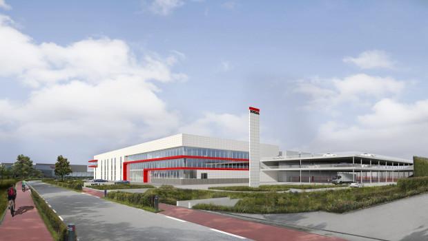 So wird die neue Anlage voraussichtlich aussehen. Neben der Erweiterung der Produktionsfläche entstehen ein Schulungszentrum, Räume für die Verwaltung sowie Parkplätze.