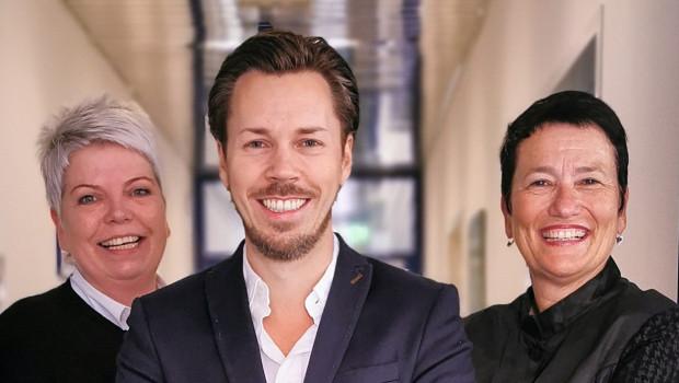 Geschäftsführung jetzt als Trio: Susanne Kern-Schulz, Fabian A. Farkas und Birgit Zelter-Dähnrichleiten NBB Egesa Gartencenter.