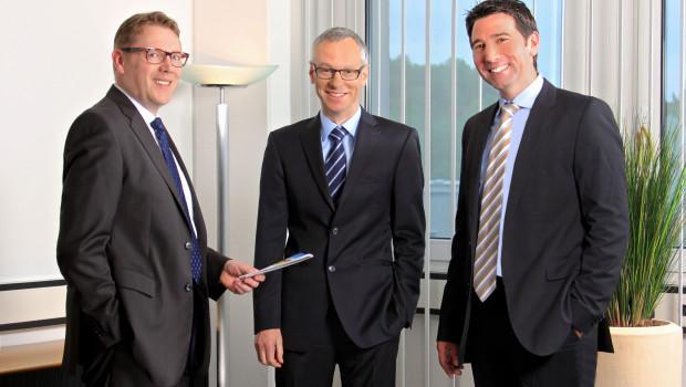Das Führungsteam der Aktivbank AG (v. l.): Hauke Kahlcke, Gerhard Glesel und Frank Geisen.