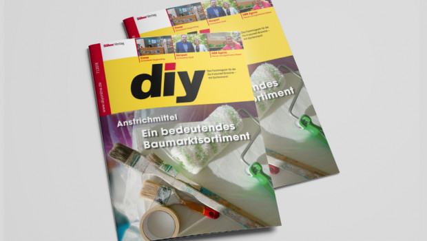"""Das Schwerpunktthema von diy 7/2018 befasst sich mit dem Sortiment """"Anstrichmittel""""."""