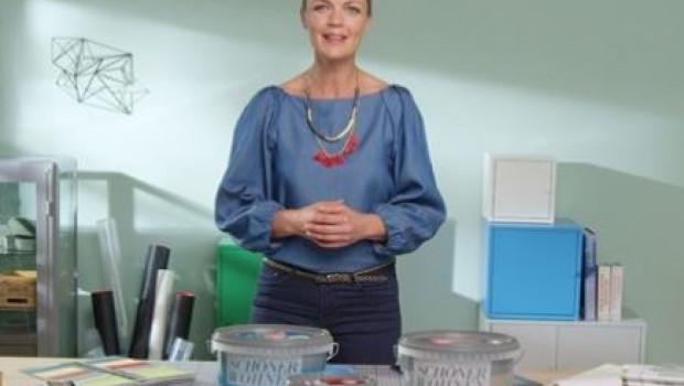 TV-Moderatorin Eva Brenner hat das neue Studio von Schöner Wohnen-Farbe eingeweiht.