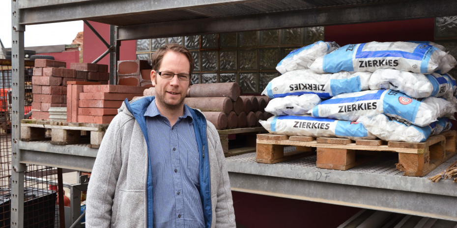 Deutschlands kleinster Baumarkt, Helgoland, Betriebsleiter Roland Eichwede.