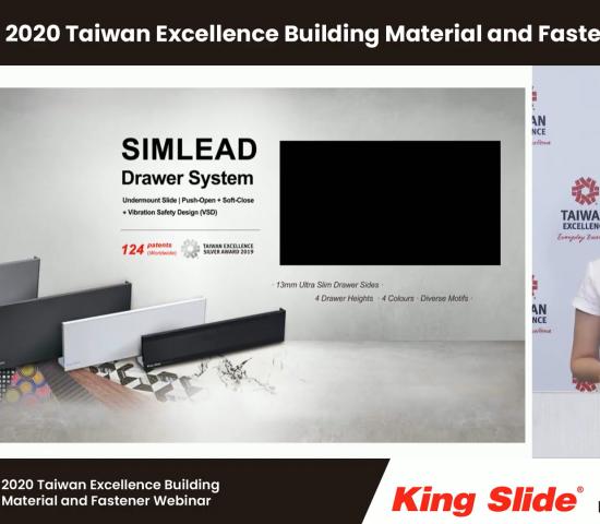 Eva Hsieh stellte ein spezielles System für Schubladenschienen der Marke King Slide vor, das verschiedene Features bietet.