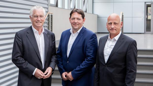 """""""Wir sind bisher insgesamt gut durch die Pandemie gekommen"""", sagt Landgard-Finanzvorstand Carsten Bönig (M.), hier zusammen mit den Vorstandskollegen Karl Voges (l.) und Dirk Bader."""