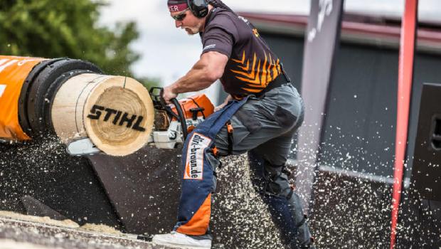 Das IVG-Mitglied Stihl beteiligt sich mit der Austragung der Deutschen Meisterschaft der Stihl Timbersports Series am Tag des Gartens.