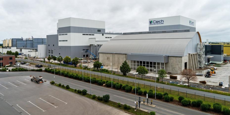 Das neue Ciech-Salzwerk in Staßfurt, Sachsen-Anhalt. Die Ciech-Gruppe hat 140 Mio. Euro in eine der modernsten und umweltfreundlichsten Anlagen ihrer Art in Europa investiert.