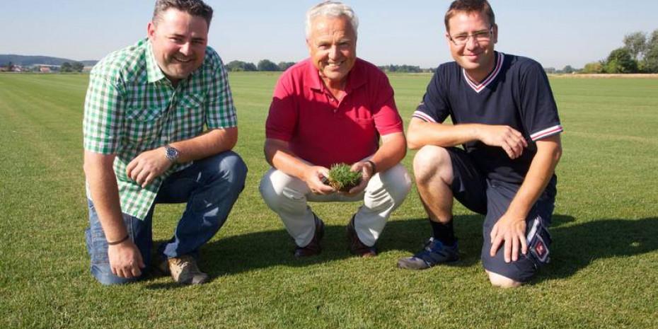 Firmengründer Horst Schwab mit seinen beiden Söhnen Günther (l.) und Walter.
