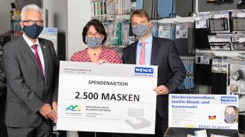Wenko spendet 2 500 Masken ans Berufskolleg