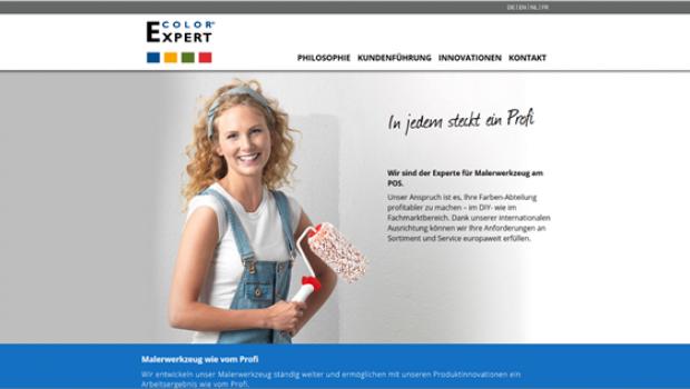 Storch-Ciret hat eine neue Webseite für Color Expert gestartet.
