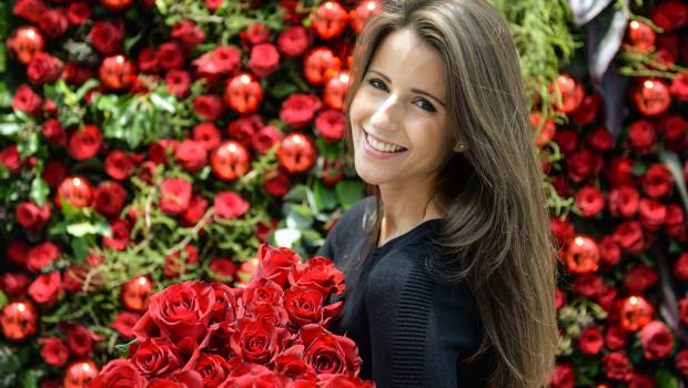 Auch wenn's die roten Rosen vielleicht nicht regnet auf der Floradecora: Der Neuaussteller De Ruiter hat 40.000 davon auf die Messe mitgebracht.