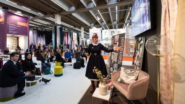 Was sind die Deko-Trends für den Heimtextilmarkt 2020? Das erklärt unter anderem Enie van de Meiklokjes auf der Heimtextil, die noch bis Freitag in Frankfurt läuft.