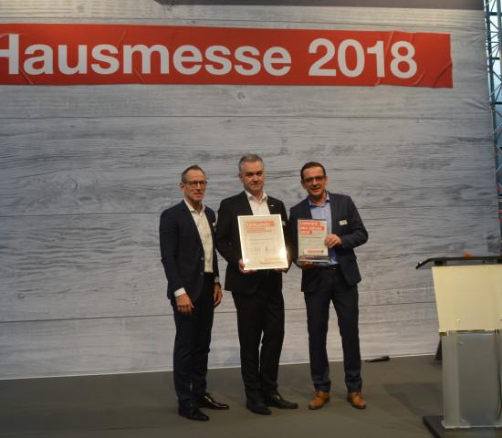 Den dritten Platz beim Lieferantenpreis belegte Kärcher.