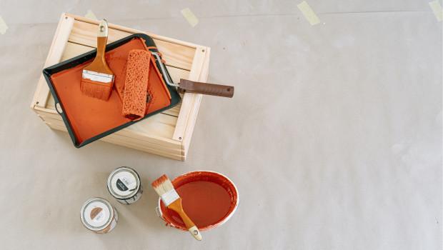Die Nachfrage bei Bautenfarben ist volumenbezogen um 22 Prozent gestiegen.