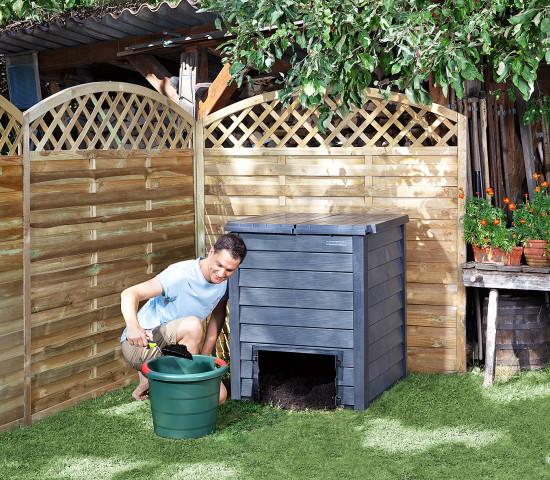 Die Thermo-Wood Komposterwerden um eine kompakteVariante mit 400 l ergänzt.