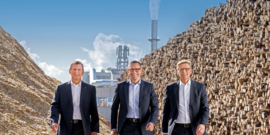 Egger-Gruppenleitung (v. l.):  Walter Schiegl, Thomas Leissing und Ulrich Bühler