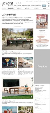 Die neuen Garten-Seiten von schoener-wohnen.de bieten Tipps und Anregungen fürs grüne Wohnzimmer.