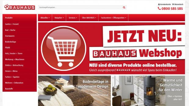 Bauhaus ist jetzt auch in der Schweiz online.