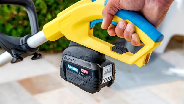 Das Reinigungsgerät Multi-Brush li-on von Gloria kann künftig mit Bosch-Akkus betrieben werden.