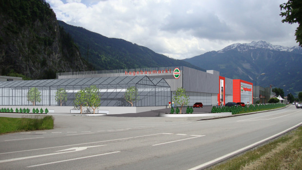 So soll der neue Baumarkt von Grissemann in Zams 2015 aussehen.