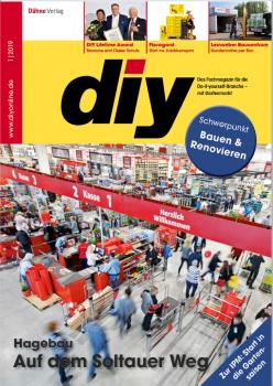 Die Januar-Ausgabe des Fachmagazins diy ist jetzt erschienen.