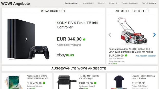 Ebay Deutschland startet jetzt auch mit einer Tiefpreisstrategie. Auch Garten- und Grillprodukte sind gleich mit dabei.