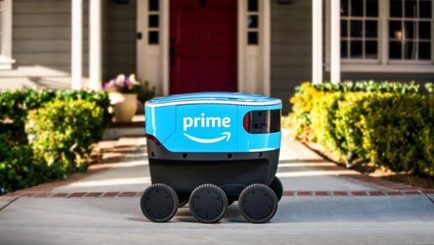 Auch Amazon liefert in den USA jetzt mit autonomen Zustellrobotern. [Foto: Amazon]