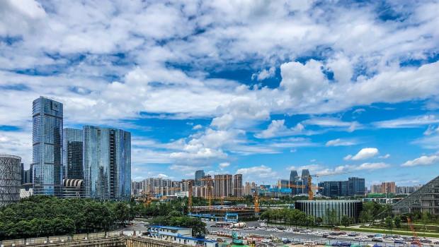 Baustelle in Chengdu.