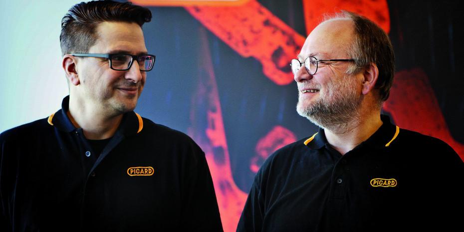 Klaus Braun (rechts) übergibt die Gesamtvertriebsleitung bei Picard zum 1. Mai an Daniel Gasperi.